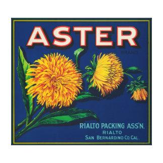 Aster Brand Citrus Crate Label Canvas Print
