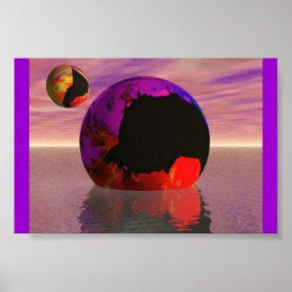 Asteroid Geyser Crash Poster