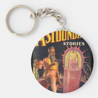 Astounding Stories - Jan 1937a_Pulp Art Basic Round Button Key Ring