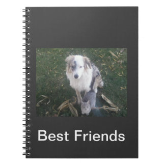 Astralian Shepard and Cat Notebook