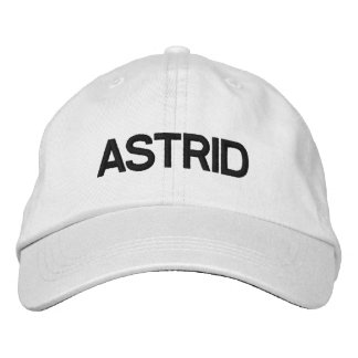 ASTRID HAT DRCHOS.COM CUSTOMIZABLE PRODUCTS EMBROIDERED BASEBALL CAP