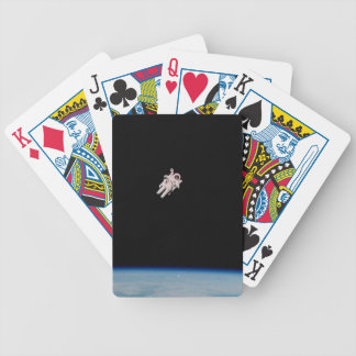 Astronaut Floating in Open Space - NASA Bicycle Playing Cards