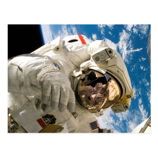 Astronaut in Space Photo Space Shuttle Discovery Postcard