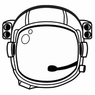 Astronaut Space Helmet Standing Photo Sculpture