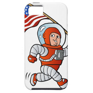 Astronaut with american flag case for the iPhone 5
