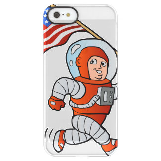 Astronaut with american flag permafrost® iPhone SE/5/5s case
