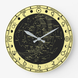 Astronomer's Astronomy Symbols Constellation Clock