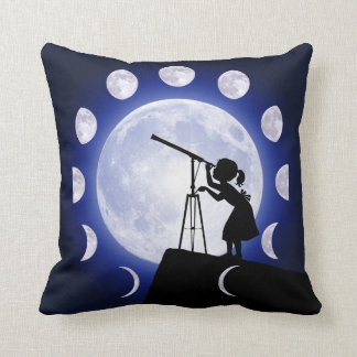 Astronomer's Moon Phase Astronomy cushion. Cushion