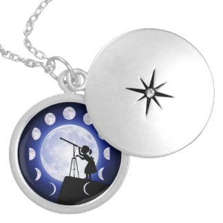 Astronomer's Silver Plated Necklace