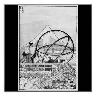Astronomers working during Edo Period Poster