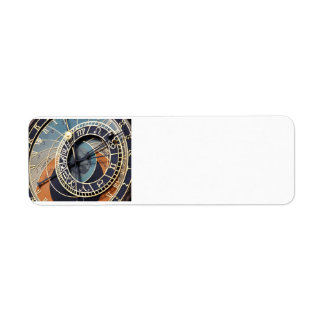 Astronomical Clock Return Address Label