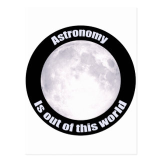 Astronomy Full Moon Postcard