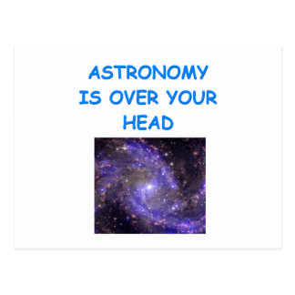 ASTRONOMY POSTCARD