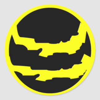 ASTRONOMY RIPPED PLANET VECTOR LOGO ICON SPACE ROUND STICKERS