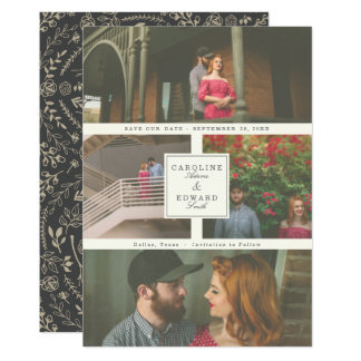 At Last Wedding Photo Save the Date Card