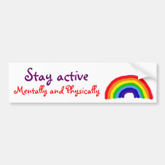 AT- Stay Active Bumper Sticker