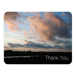 At Sunset Peaceful Sky 2 Sympathy Thank You Card