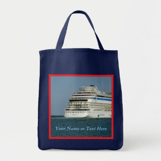 At the Back Red Bordered Personalized Tote Bag