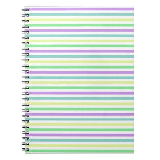 At the Fair themed Stripes Spiral Note Books