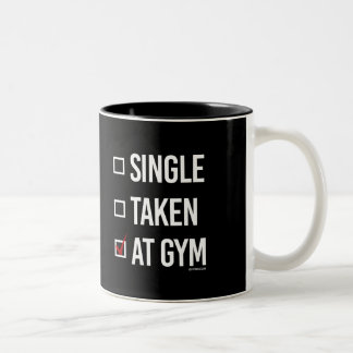 At the gym -   Training Fitness -.png Two-Tone Coffee Mug
