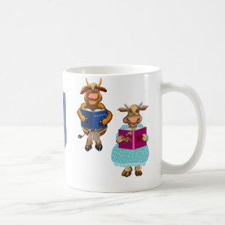 At the library coffee mug