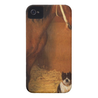 At the Stables, Horse and Dog by Edgar Degas iPhone 4 Cases