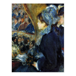 At the theatre by Pierre Renoir Postcard
