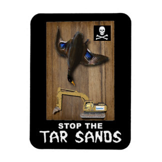 Athabasca Tar Sands Duck Mount Vinyl Magnet