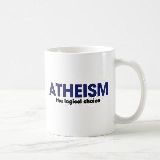 Atheism is the logical choice classic white coffee mug