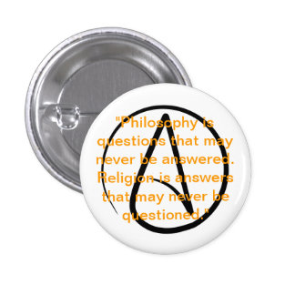 Atheism quote button
