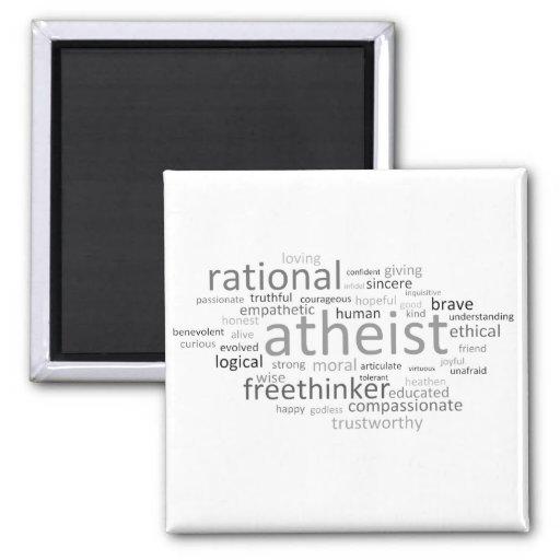 Atheist Cloud Refrigerator Magnet