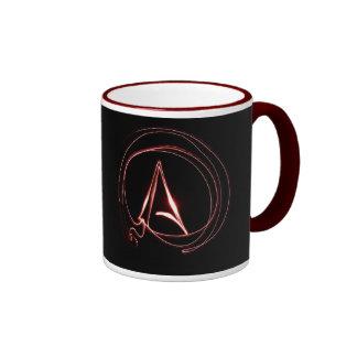 Atheist in Red Ringer Mug