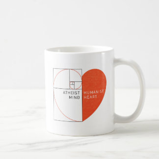 Atheist Mind, Humanist Heart Basic White Mug