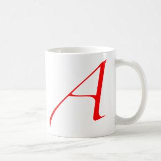 Atheist Scarlet Letter Coffee Mug