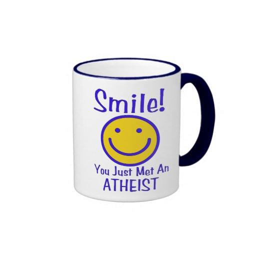 Atheist Smiley Coffee Mugs