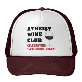 Atheist wine club cap