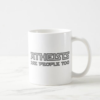 Atheists Are People Too Basic White Mug