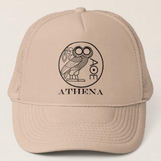 Athena's owl tetradrachm (Engravers Font) Trucker Hat