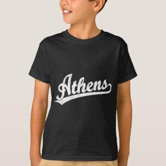 Athens script logo in white T-Shirt