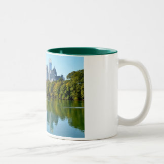 Atlanta city view from Piedmont Park Two-Tone Coffee Mug