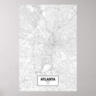 Atlanta, Georgia (black on white) Poster