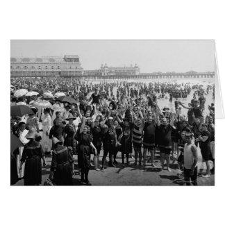 Atlantic City Beach, 1910 Card
