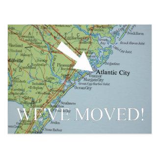 Atlantic City New Address announcement Postcard