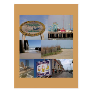 Atlantic City Photo Collage Postcard