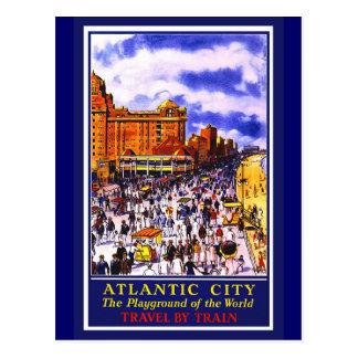 Atlantic City Poster Postcard