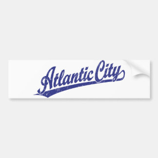 Atlantic City script logo in blue Bumper Sticker