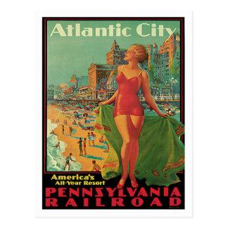 Atlantic City Vintage Travel Postcard