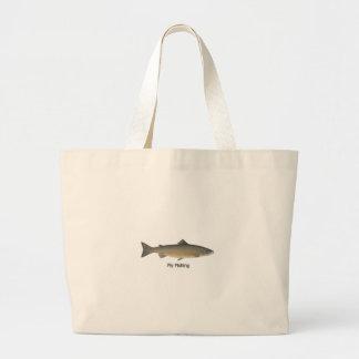 Atlantic Salmon Large Tote Bag