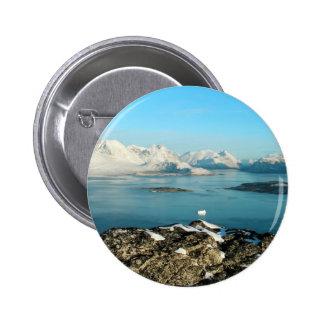 Atlantic scenery 6 cm round badge