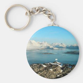 Atlantic scenery basic round button key ring